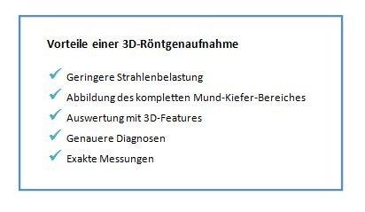 Vorteile einer 3D-Röntgenaufnahme auf einem Bild.